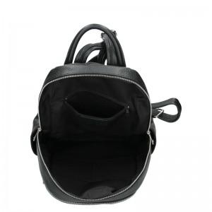 Dámský kožený batoh Delami Nevola - černá