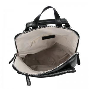 Dámský kožený batoh Delami Dione - černá