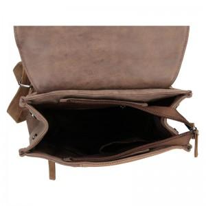 Moderní dámský batoh Beagles Nicol - hnědá