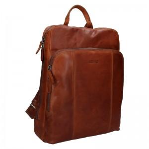 Pánský kožený batoh Justified Arthur - koňak