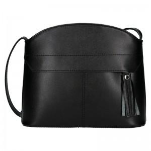 Dámská kožená kabelka Vera Pelle Martinas - černá
