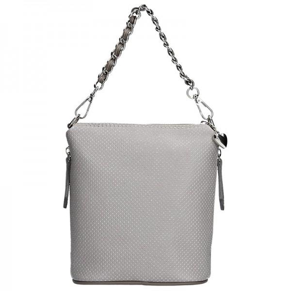 Dámská kožená kabelka Facebag Roberta - šedá