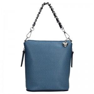 Dámská kožená kabelka Facebag Roberta - modrá