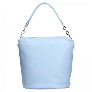Dámská kožená kabelka Facebag Talma - modrá
