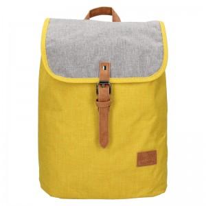 Trendy batoh New Rebels Lyon - žluto-šedá