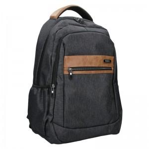 Moderní pánský batoh Enrico Benetti Cavalir - černo-šedá