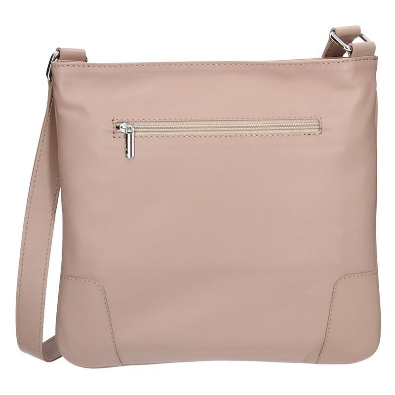 Dámská kožená crossbody kabelka Facebag Ghita - béžová