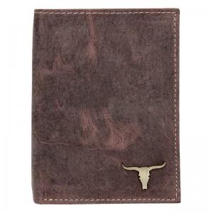 Pánská kožená peněženka Wild Buffalo Tomas - hnědá