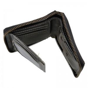 Pánská kožená peněženka Wild Buffalo Petrov - černá