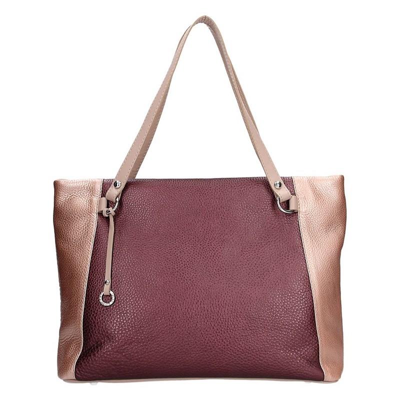 8e85234b22f Dámská kožená kabelka Facebag Joana - vínová