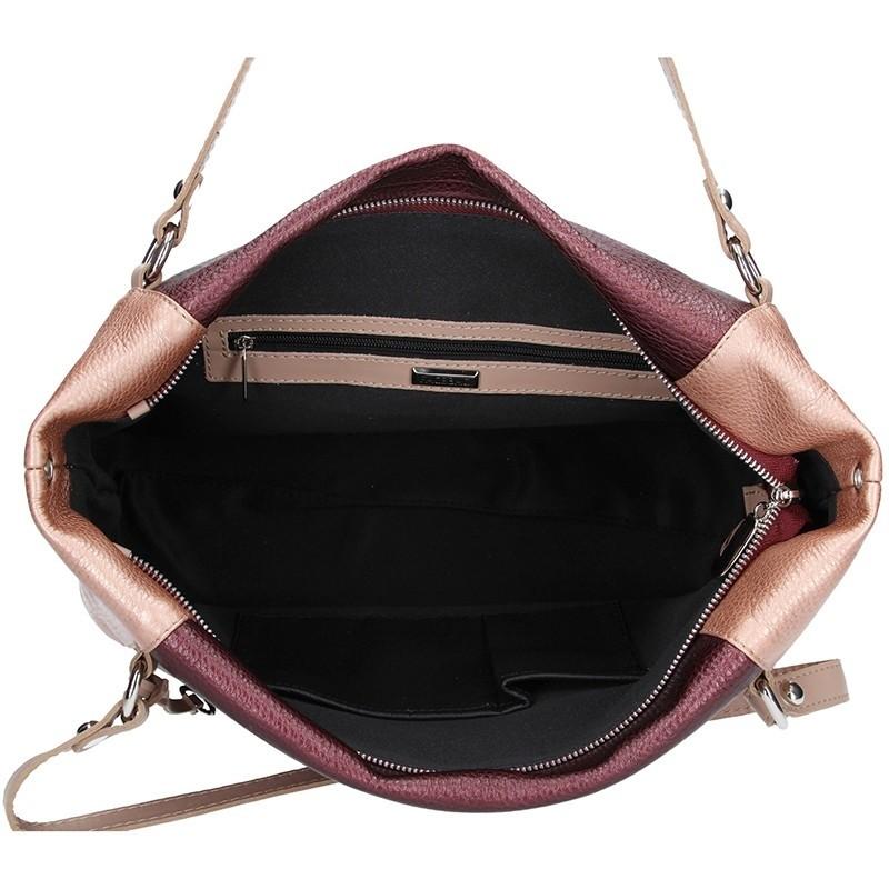 Dámská kožená kabelka Facebag Joana - vínová