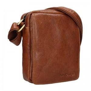 Pánská kožená taška přes rameno SendiDesign Danet - koňak