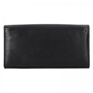 Číšnická kožená peněženka Lagen Menole - černá