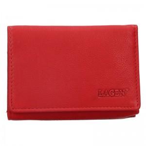 Dámská kožená peněženka Lagen Leonas - červená