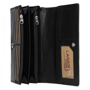 Dámská kožená peněženka Lagen Zinna - černá