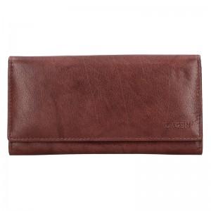 Dámská kožená peněženka Lagen Zinna - hnědá
