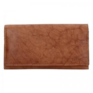 Dámská kožená peněženka Lagen Zinna - koňak