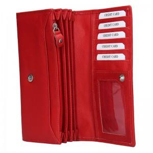 Dámská kožená peněženka Lagen Argenta - červená