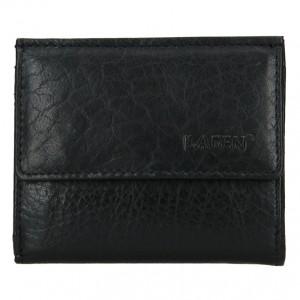 Pánská kožená slim peněženka Lagen Jonatan - černá