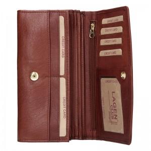 Dámská kožená peněženka Lagen Ninnas - hnědá