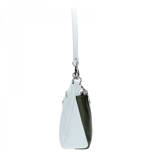 Dámská kožená kabelka Facebag Lincoln - šedá (metalická)
