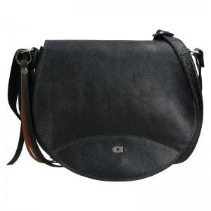 Luxusní dámské kožené crossbody Daag Simonet - černá