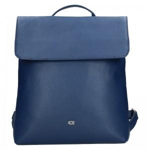 Dámský kožený batoh Daag Mikaela - modrá
