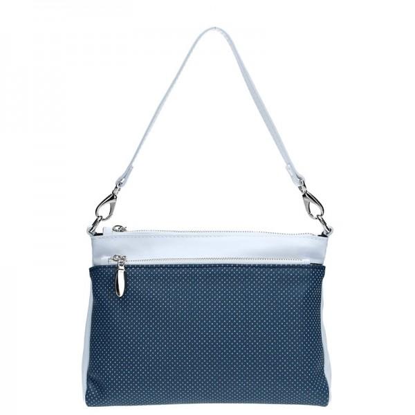 Dámská kožená crossbody kabelka Facebag Lincoln - modrá