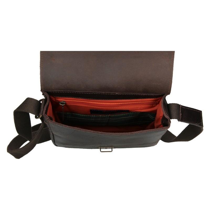 Pánská kožená taška Daag Benn - tmavě hnědá