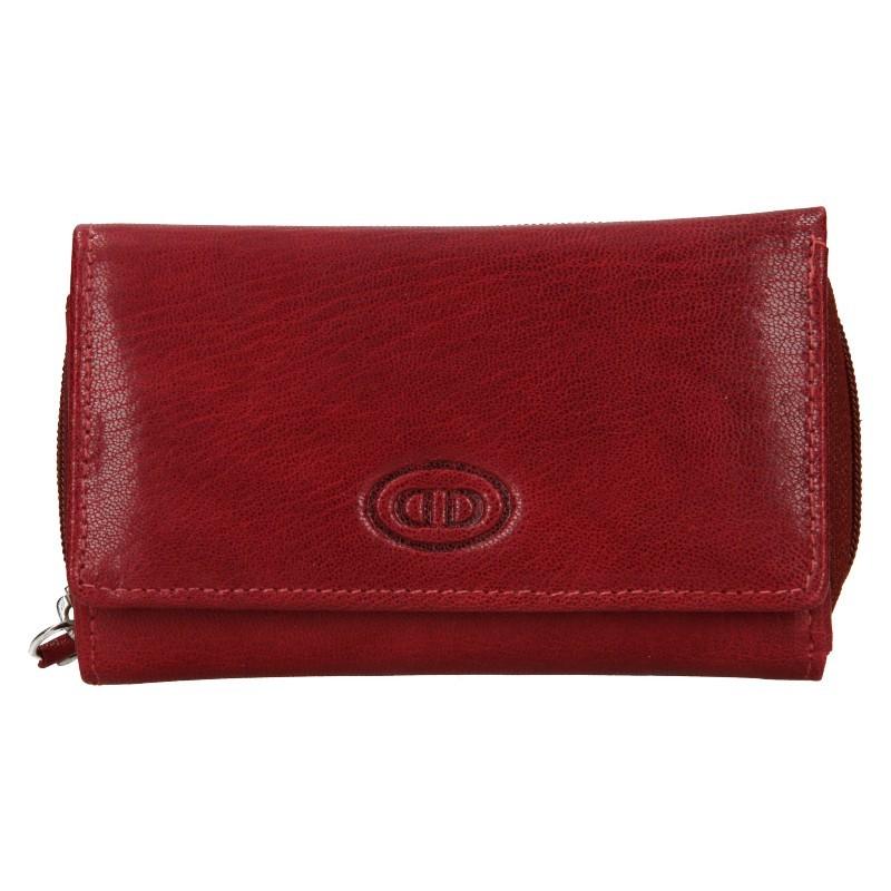 Dámská kožená peněženka DD Anekta Debra - tmavě červená