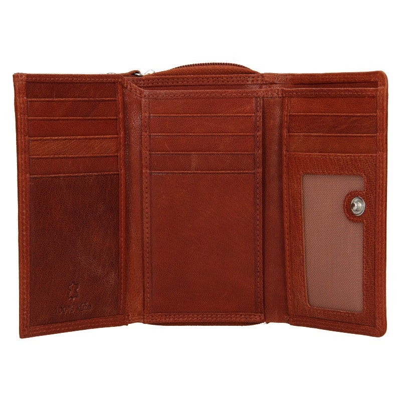 Dámská kožená peněženka DD Anekta Debra - hnědá