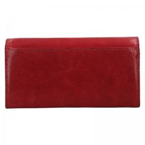 Dámská kožená peněženka DD Anekta Verona - červená