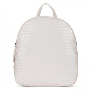 Elegantní dámský batoh Emily & Noah Leslie - bílá