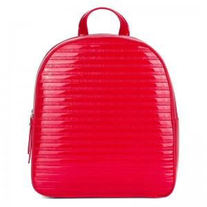 Elegantní dámský batoh Emily & Noah Leslie - červená