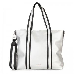 Dámská kabelka Emily & Noah Luna - stříbrná