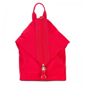 Elegantní dámský batoh Emily & Noah Pina - červená