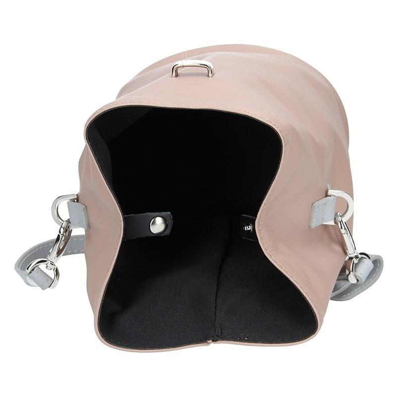 Dámské kožené crossbody Facebag Inka - béžová