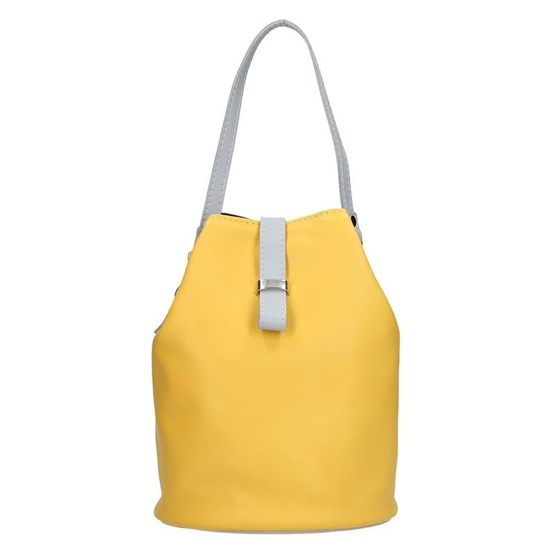 Dámské kožené crossbody Facebag Inka - žlutá
