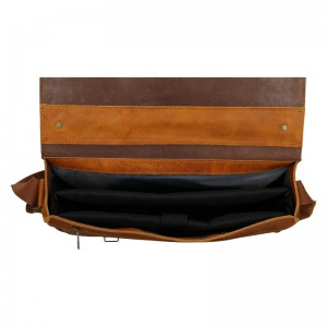 Pánská kožená taška Daag Woody - světle hnědá
