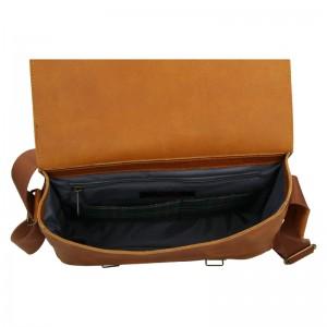 Pánská kožená taška Daag Elianto - světle hnědá