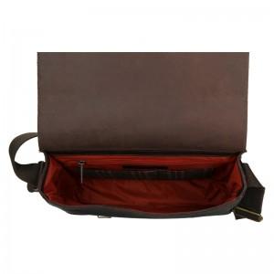 Pánská kožená taška Daag Elianto - tmavě hnědá