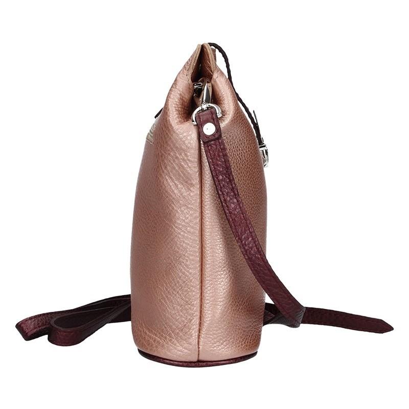 Dámské kožené crossbody Facebag Pink
