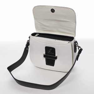 Dámská crossbody kabelka David Jones Lissa - černo-bílá