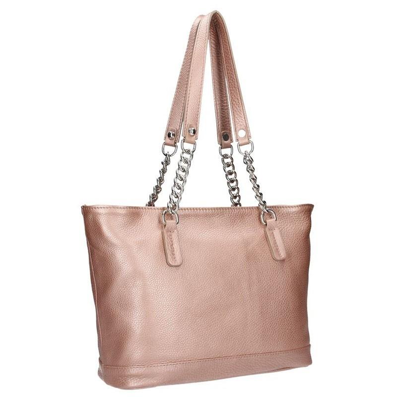 Dámská kožená kabelka Facebag Marika - růžová
