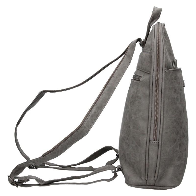 Moderní ekokožený dámský batoh Enrico Benetti Manola - šedá