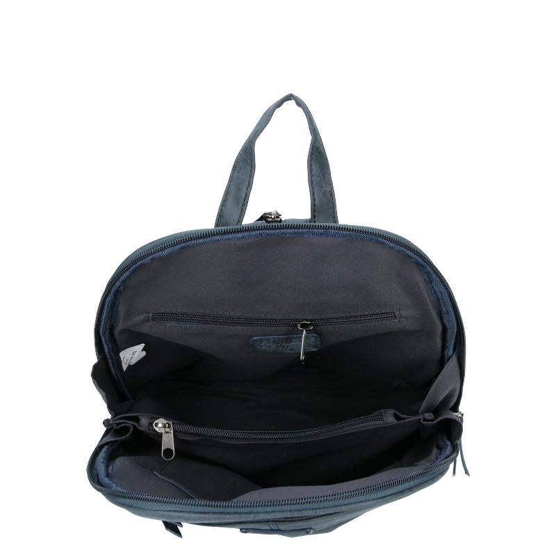 Moderní ekokožený dámský batoh Enrico Benetti Manola - modrá