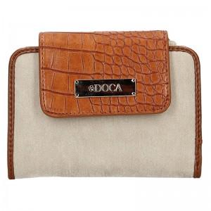 Dámská peněženka Doca 64915 - hnědo- béžová