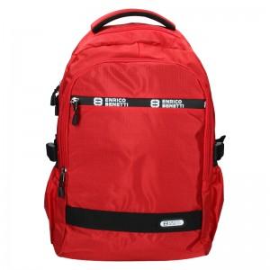 Moderní pánský batoh Enrico Benetti Samme - červená