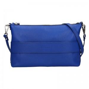 Trendy dámská kožená crossbody kabelka Facebag Elesn - modrá