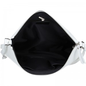Trendy dámská kožená crossbody kabelka Facebag Elesn - bílá